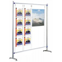Beat 1200mm Kit 3 - Floor standing 8 x A4, 1x A1 poster pockets