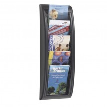 A5 Wall Mount Literature Rack - Black