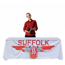 5' branded table cloth with full colour print all over