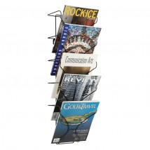 5xA4 Wire Wall Mounted Literature Display