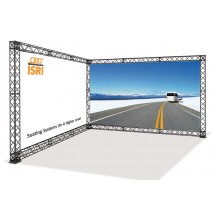 L shaped trade show display