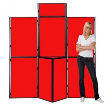 8 Panel Slimflex Pole & Panel Free standing display panels