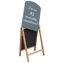 Wooden Curved Chalk Board