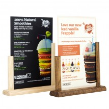 A5 Menu Holder - dark oak or natural options