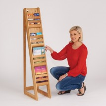Bamboo literature rack