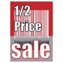 1/2 Price Sale Barcode - Poster 134
