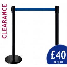 Black retractable barrier offer