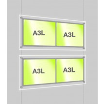 Double A3 LED Retail Display