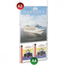 A2 Poster Pocket + 2x A4 Leaflet Holder Kit