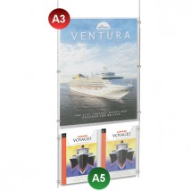 A3 Poster Pocket + 2x A5 Leaflet Holder Kit