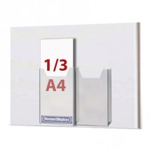Cable System Leaflet Dispenser - 2 x 1/3 A4 on A3 Centres
