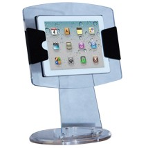 Clear Acrylic iPad Display Case Stand