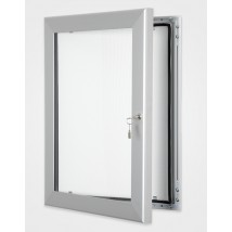 Silver Wall Mounted Lockable Notice Board