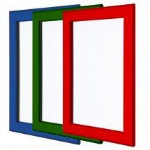 coloured snap frames