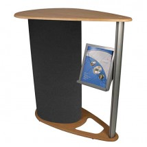 Stylish Workstation w/ Literature Holder