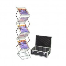 Compact folding literature rack