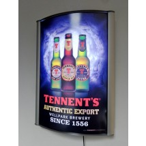 A1 Curved Poster Lightbox Display