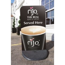 Pavement Sign Retail Graphics Display