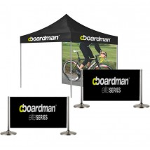 Event tent kit with cafe barriers