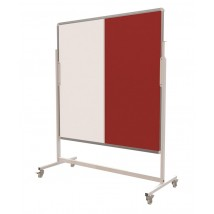 Felt Drywipe Combo Mobile Notice Board