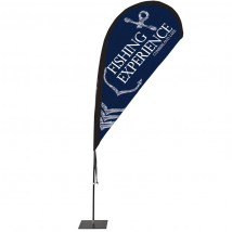 Fibreglass teardrop flag