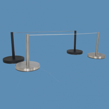 Freestanding Knee High Barrier Post