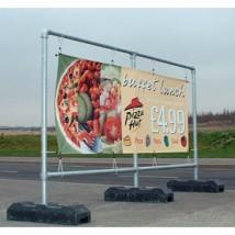 free standing advertising banner frame