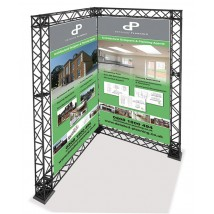 L shaped trade show gantry