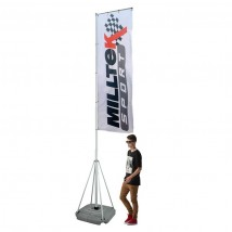 Portable 4/5m Telescopic Waterbased Event Flag Pole