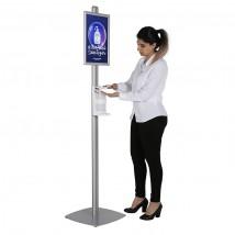 Floor standing hand sanitising station