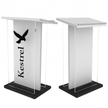 Acrylic front lectern