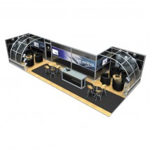 Large Modular Stand Open 2 Sides - 11x5m