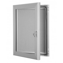 Lockable Pin Board - Silver