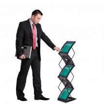 Modern folding literature rack