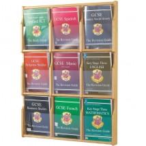 Wood Magazine Rack - Full exposure of literature