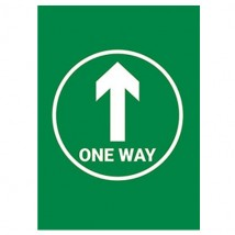 One Way Arrow Green Background - Pack of 10 - A2 Poster or Sticker