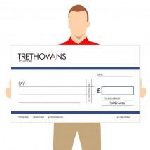 Big Promotional Cheques - Custom Logo