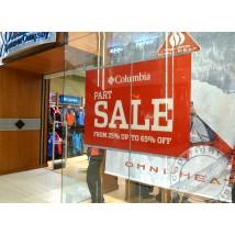 Store window poster rail display
