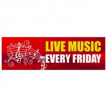 Live Music Every Friday - Banner 147