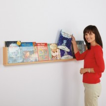 Shelf style wall mounted dispenser