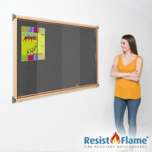 Lockable Sliding Door School Pin Board