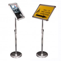 Portable sign holder floor display - A4