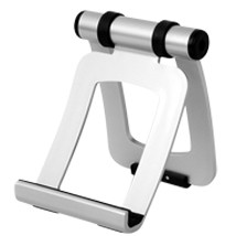 Silver Portable iPad Holder