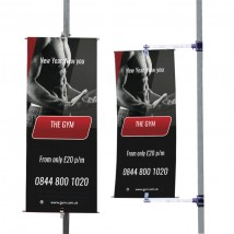 Spinning Post mounted banner