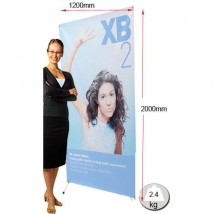 X Banner Stand Tensioned Banner Display