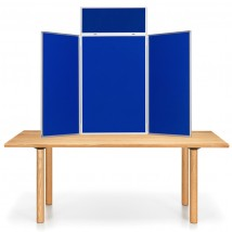 Portrait Table Top Display - Aluminium Frame