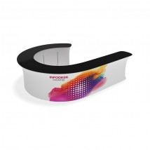 J-Shaped Tension Fabric Reception Counter