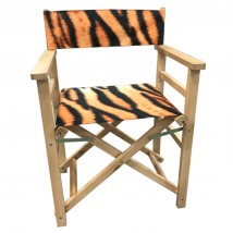Tiger Print Directors chair