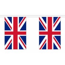 Union Jack Flag Bunting - 30 Large Flags / 18.25m Length