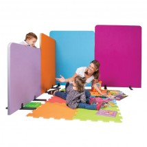 Colourful school room dividers